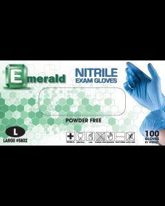 Emerald Nitrile Powder-Free Exam Gloves 3 Mil Medium