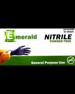 Emerald General-Purpose Powder-Free Nitrile Gloves 3 Mil Large