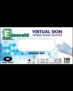 Emerald Nitrile Powder-Free Virtual Skin Exam Gloves 4 Mil Large