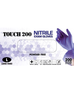 Emerald Touch 200 Powder-Free Exam Gloves 3 Mil Large
