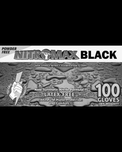 Nitromax Black Powder-Free Exam Gloves 5 Mil Medium