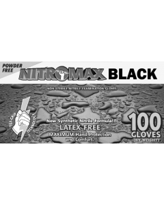 Nitromax Black Powder-Free Exam Gloves 5 Mil X-Large